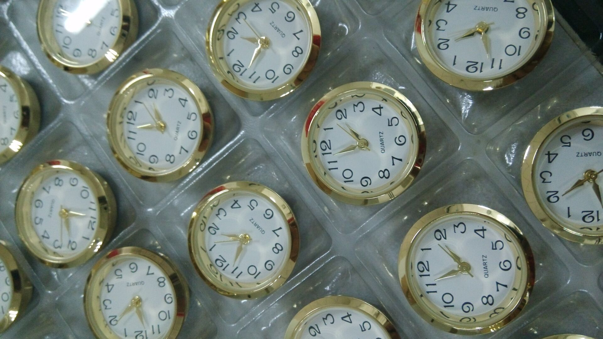 smalll mini 23mm clock inserts fit up clock