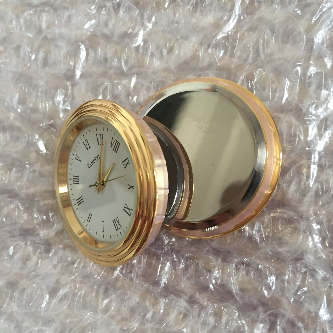 37mm watch insert gold clcok fit up waterfall case insert clock