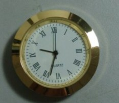 37mm roman dial gold metal mini insert clock