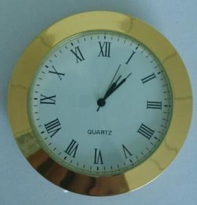 65mm metal insert clock gold metal insert clock