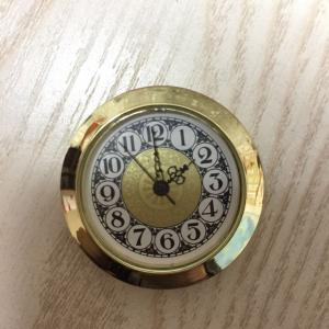 37mm vintage clock inserts gold case