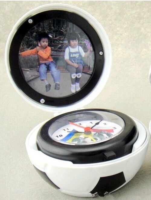 mini football photoframe alarm clock