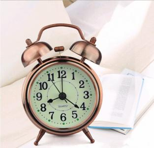 vintage classical metal double bell alarm clock table clock
