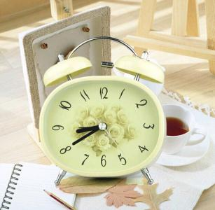 Cute metal double bell alarm clock