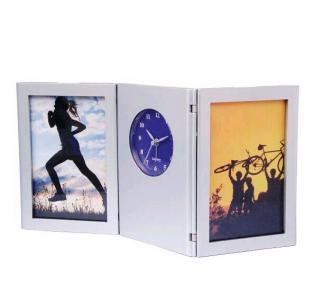 foldable penholder photoframe desk clock