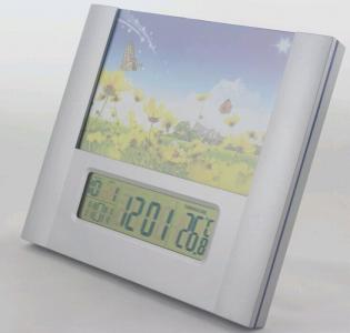 plastic square  photoframe clock