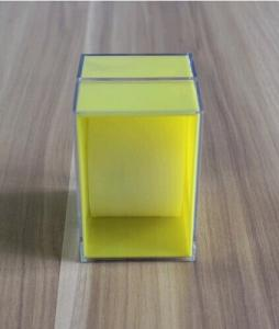 square plastic watch box