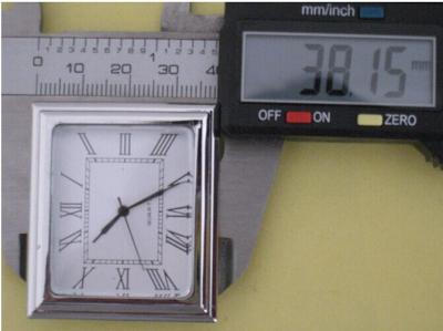 mini square metal insert clock