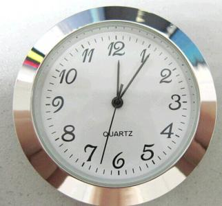 37mm metal insert clock