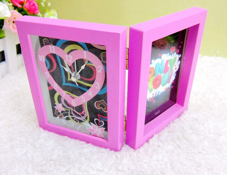 small foldable photoframe clock