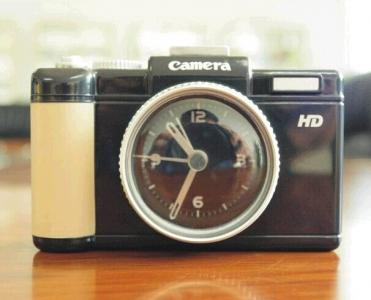 plastic camera alarm clock