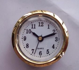 50mm plastic gold insert clock