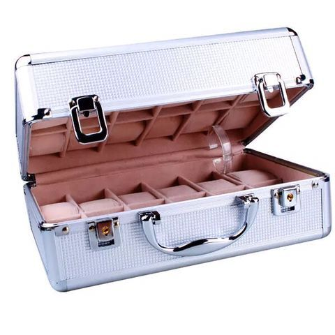 aluminum watch brief case 24 grid watch case