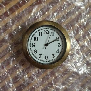 36mm plastic antique bronze clock inserts
