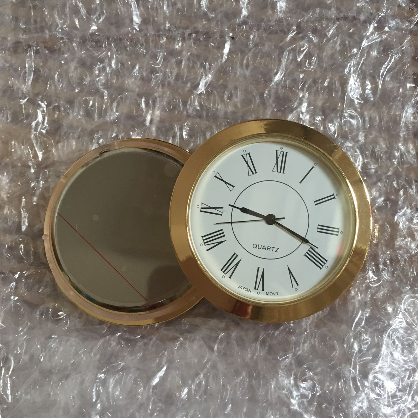 55mm metal insert clock for craft items